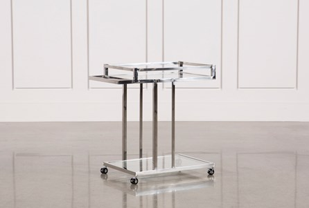Display product reviews for METAL AND GLASS BAR CART