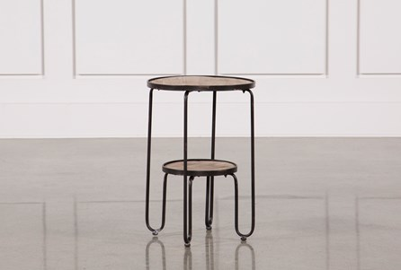 Display product reviews for METAL AND WOOD ACCENT TABLE