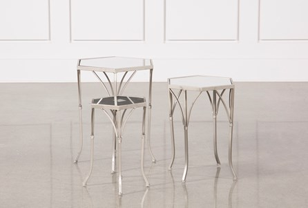 Display product reviews for 3 PIECE MIRROR ACCENT TABLES