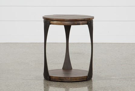 Display product reviews for BLANTON ROUND END TABLE