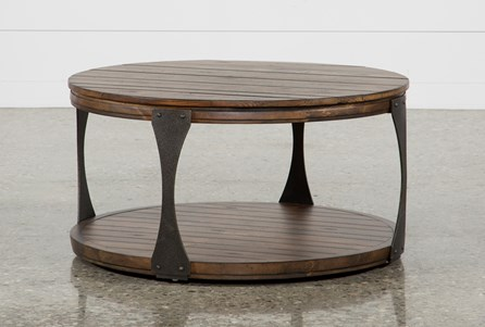 Round coffee tables to fit your home decor living spaces for Wood coffee table kits