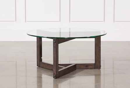 Glass Coffee Table Living Spaces - Coffee table depth