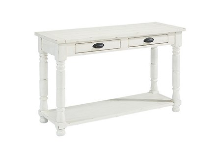 Display product reviews for MAGNOLIA HOME BOBBIN SOFA TABLE BJG