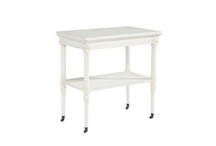 Display product reviews for MAGNOLIA HOME PETITE ROSETTE WHITE ACCENT TABLE BJG