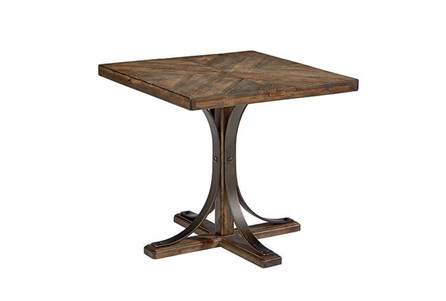 Display product reviews for MAGNOLIA HOME IRON TRESTLE END TABLE BJG