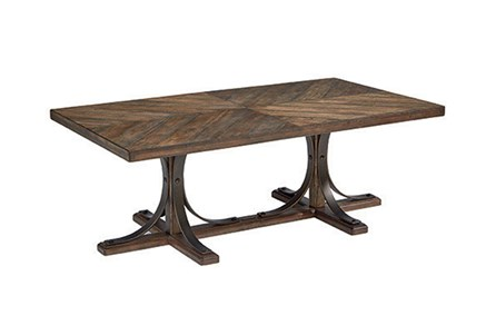 Display product reviews for MAGNOLIA HOME IRON TRESTLE COFFEE TABLE BJG