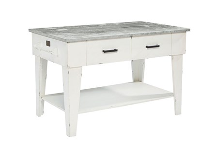 Display product reviews for MAGNOLIA HOME JO'S WHITE KITCHEN ISLAND BJG