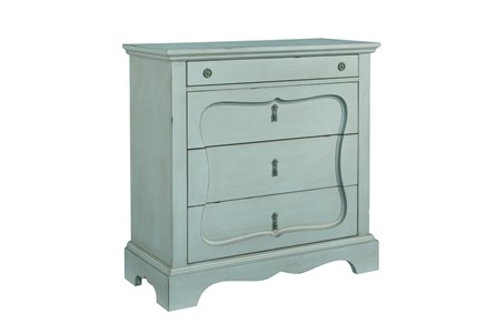 Display product reviews for MAGNOLIA HOME SILHOUETTE FRENCH BLUE 4-DRAWER CHEST BJG