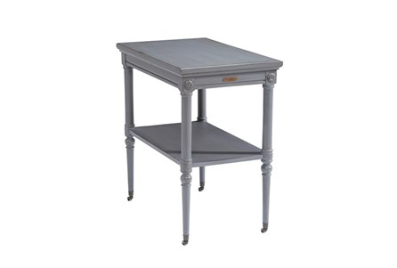 Display product reviews for MAGNOLIA HOME PETITE ROSETTE FRENCH GREY ACCENT TABLE BJG