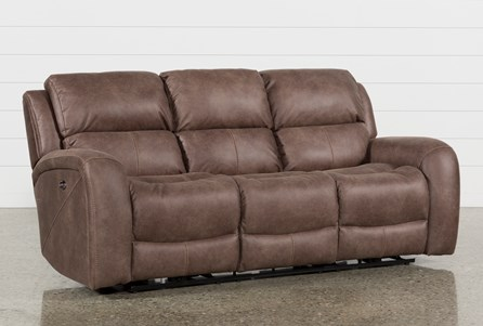 Display product reviews for DEEGAN BARK POWER RECLINING SOFA