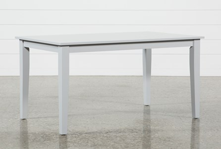 Display product reviews for LINDY DOVE GREY RECTANGLE DINING TABLE