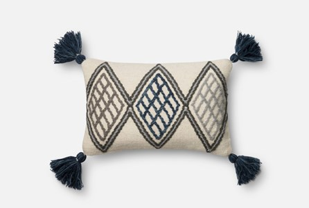 Display product reviews for ACCENT PILLOW-MAGNOLIA HOME BLUE/IVORY DIAMOND TASSELS 13X21 BJG