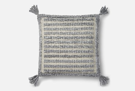 Display product reviews for ACCENT PILLOW-MAGNOLIA HOME GREY SQUARE TASSELS 22X22 BJG