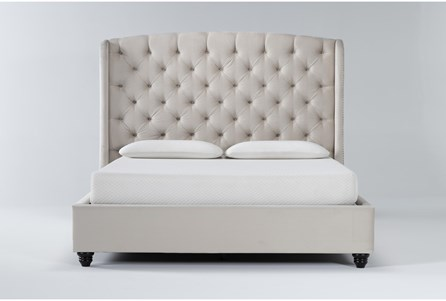Display product reviews for KIT-MARIAH CALIFORNIA KING UPHOLSTERED PANEL BED
