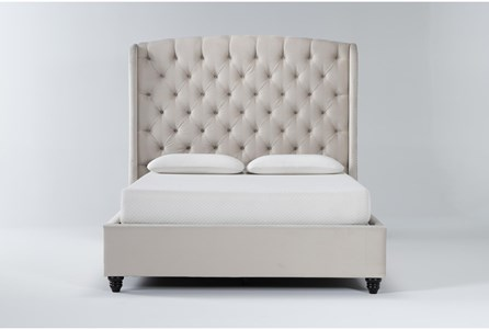 Display product reviews for KIT-MARIAH QUEEN UPHOLSTERED PANEL BED