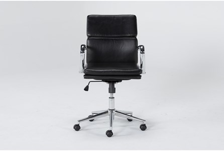 Display product reviews for MOBY BLACK LOW BACK OFFICE CHAIR
