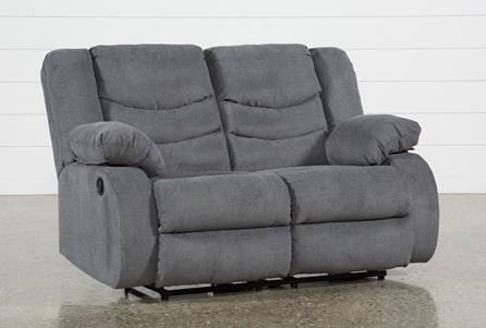 Display product reviews for HAINES GREY RECLINING LOVESEAT
