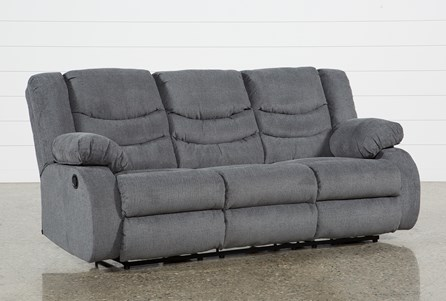 Display product reviews for HAINES GREY RECLINING SOFA