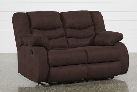 Display product reviews for HAINES CHOCOLATE RECLINING LOVESEAT