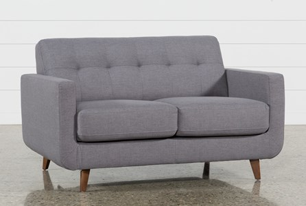 Display product reviews for ALLIE DARK GREY LOVESEAT