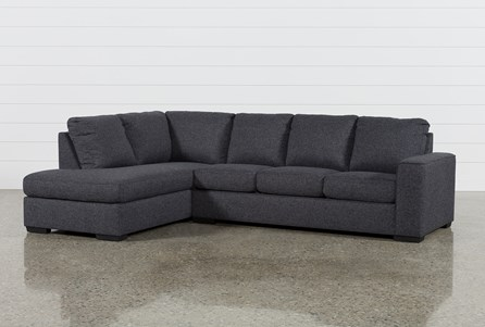 Display product reviews for KIT-LUCY DARK GREY 2 PIECE SLEEPER SECTIONAL W/LAF CHAISE