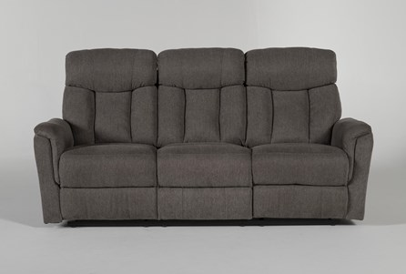 Display product reviews for SUZY DARK GREY RECLINING SOFA