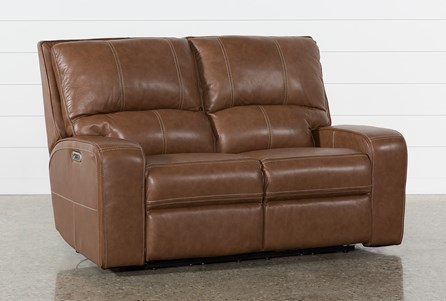 Display product reviews for CLYDE SADDLE LEATHER POWER RECLINING LOVESEAT W/POWER HEADREST & USB