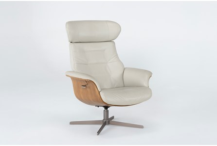 Display product reviews for AMALA BONE LEATHER RECLINING SWIVEL CHAIR