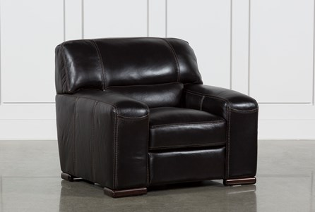 Display product reviews for GRANDIN BLACKBERRY LEATHER CHAIR