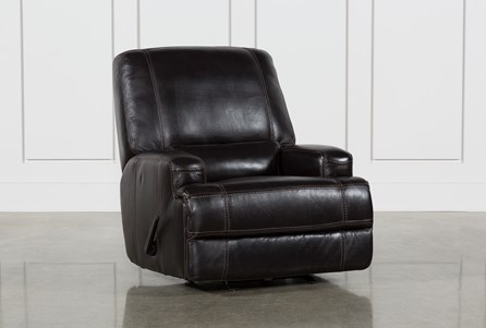 Display product reviews for GRANDIN BLACKBERRY LEATHER MANUAL GLIDER RECLINER