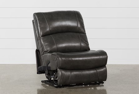 Display product reviews for TRAVIS DARK GREY LEATHER ARMLESS POWER RECLINER