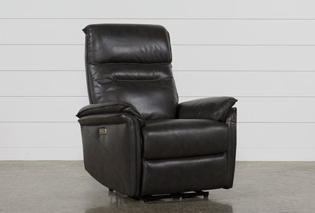 Display product reviews for LAIRD DARK GREY POWER WALLAWAY RECLINER W/ ADJUSTABLE HEADREST