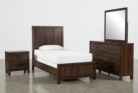 Display product reviews for KIT-WILLOW CREEK TWIN 4 PIECE BEDROOM SET