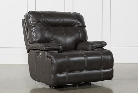Display product reviews for MARIUS DARK GREY POWER RECLINER CHAIR WITH POWER HEADREST AND USB