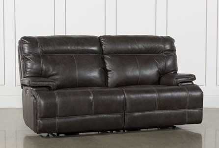 Display product reviews for MARIUS DARK GREY POWER RECLINING SOFA WITH POWER HEADREST AND USB
