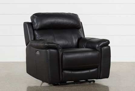 Display product reviews for DINO BLACK LEATHER POWER RECLINER W/POWER HEADREST & USB