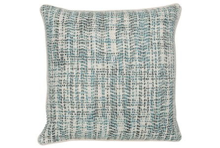 Display product reviews for ACCENT PILLOW-MALLARD AND IVORY TWEED 22X22