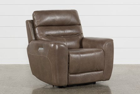 Display product reviews for CHEYENNE MOCHA LEATHER POWER RECLINER WITH POWER HEADREST