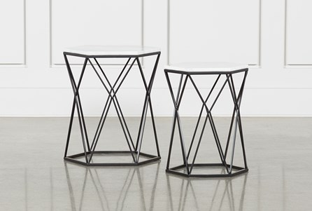 Display product reviews for OLIVIA 2 PIECE SET NESTING ACCENT TABLES