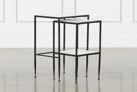 Display product reviews for AVA 2 PIECE SET NESTING ACCENT TABLES
