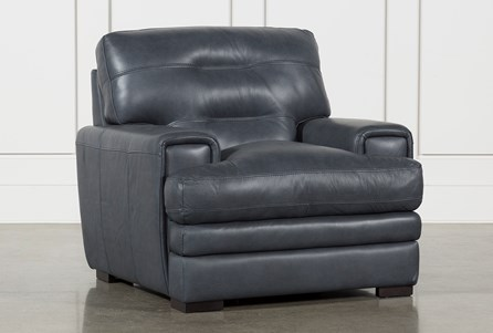 Display product reviews for GINA BLUE LEATHER CHAIR