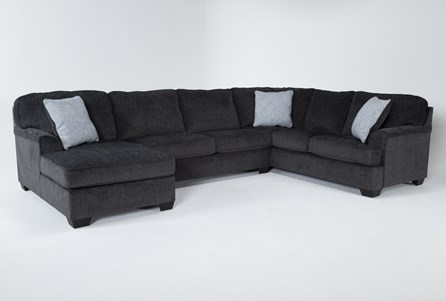 Display product reviews for KIT-CALVIN SLATE 3 PIECE SECTIONAL WITH LAF CHAISE