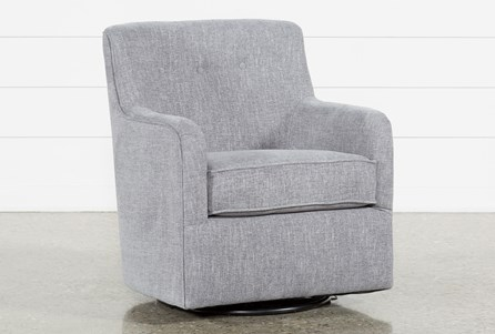 Display product reviews for KATRINA GREY SWIVEL GLIDER CHAIR