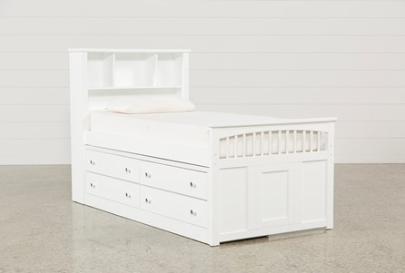 Display product reviews for KIT-BAYFRONT TWIN CAPTAINS BED WITH SINGLE 4-DRAWER UNIT