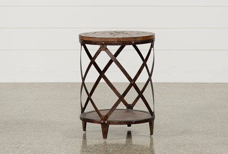 Display product reviews for MOUNTAINIER ROUND END TABLE