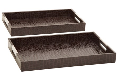 Display product reviews for 2 PIECE SET WOOD & LEATHERETTE