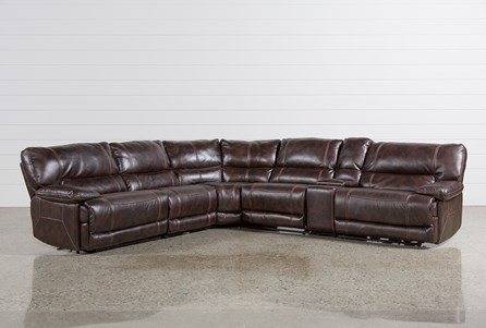 Display product reviews for KIT-MARX NUTMEG 6 PIECE POWER RECLINING SECTIONAL