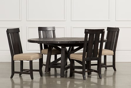 48876c942f3c6 Display product reviews for KIT-JAXON 5 PIECE EXTENSION ROUND DINING SET W  WOOD