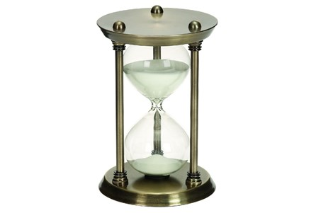 Display product reviews for 9 INCH METAL & GLASS 30 MIN HOURGLASS