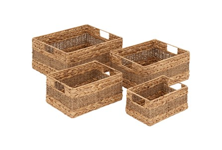 Display product reviews for 4 PIECE SET SEAGRASS BASKET